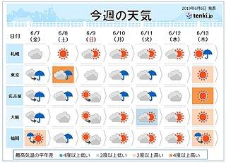 週間天気 あすにも梅雨入りの可能性 金・土は大雨
