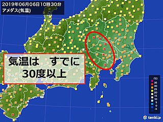 関東 すでに真夏日も 午前中から暑すぎる
