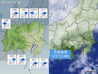 7日関東「梅雨入り」秒読みか 激しい雨や雷雨の所も