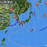 7日 全国的に雨 九州から関東の所々で激しく降る