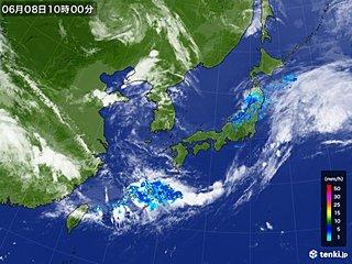 梅雨前線が南の海上に停滞 東北日本海側で大気不安定