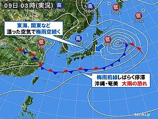 近畿など梅雨入りまだ先か 梅雨空の東日本の日差しは