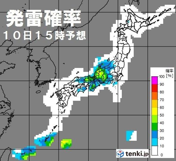 きょうの天気 大気の状態不安定 東日本は梅雨空続く