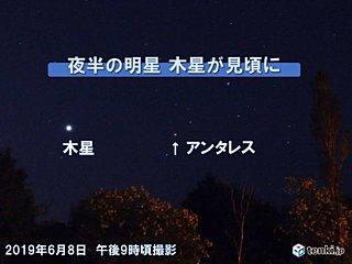 北海道 夜半の明星 木星が見頃に