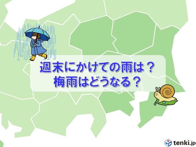 関東 週末にかけての雨の見通し 今年の梅雨の傾向
