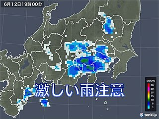東海~関東 今夜激しい雨 あす梅雨の晴れ間
