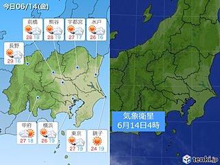 14日関東 7月並みの暑さが続く所も 天気は下り坂