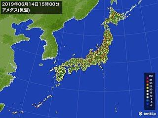 気温上昇 北陸や東北の日本海側は真夏日の所も