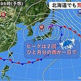 北海道でも荒れた天気に