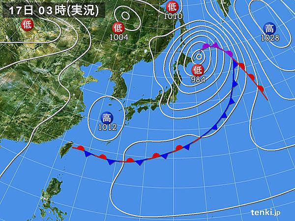 17日 北海道は暴風に警戒 関東7月並みの気温続く