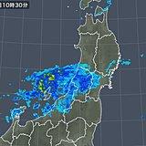 新潟や山形に雨雲 今夜9時頃まで強雨の恐れ