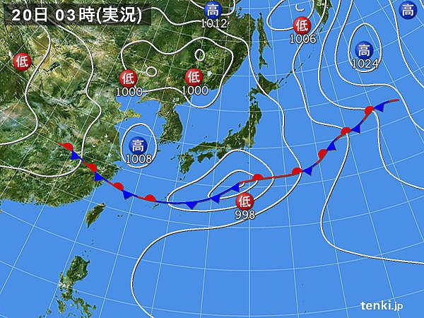 20日 局地的に激しい雨 西は気温上昇 真夏日も