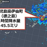 奄美地方で 激しい雨を観測 土砂災害に警戒