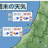 山形・新潟は少しの雨でも土砂災害に注意