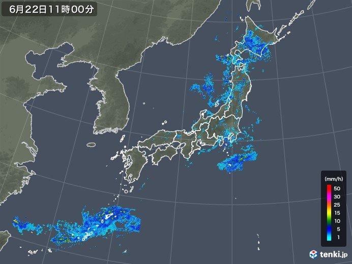 北海道や東北は激しい雨や落雷も