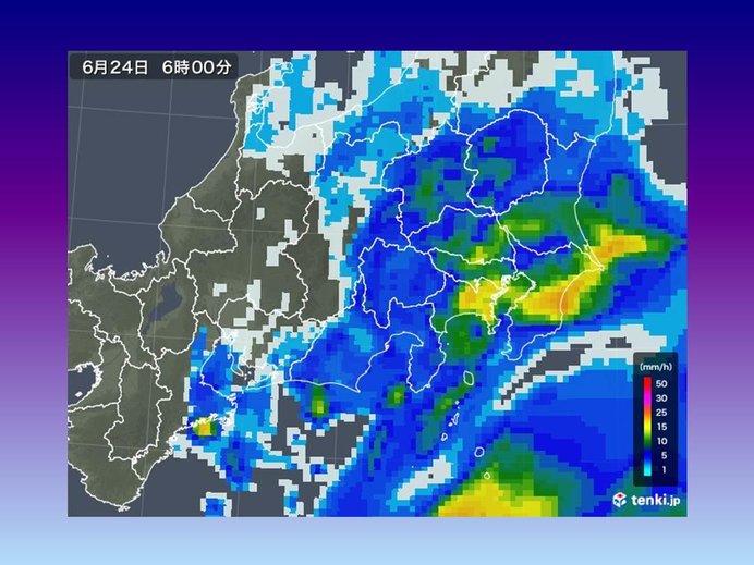 関東甲信 24日にかけて激しい雨注意