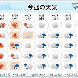 週間 梅雨前線 北上し活動が活発に 週末から大雨か