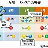 九州 5~7月の天候