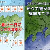 25日 関東 暑くなる 昨日より7度前後も気温高く