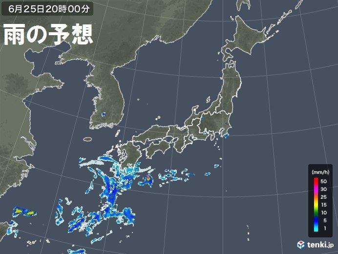 九州では次第に天気崩れる
