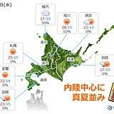 北海道 約1か月ぶりの真夏日!
