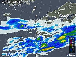 九州南部 昼過ぎまで激しい雨の恐れ