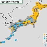8日(月) 関東は曇り空 西日本は午後は雷雨に注意