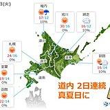 北海道 夏本番の暑さ復活!