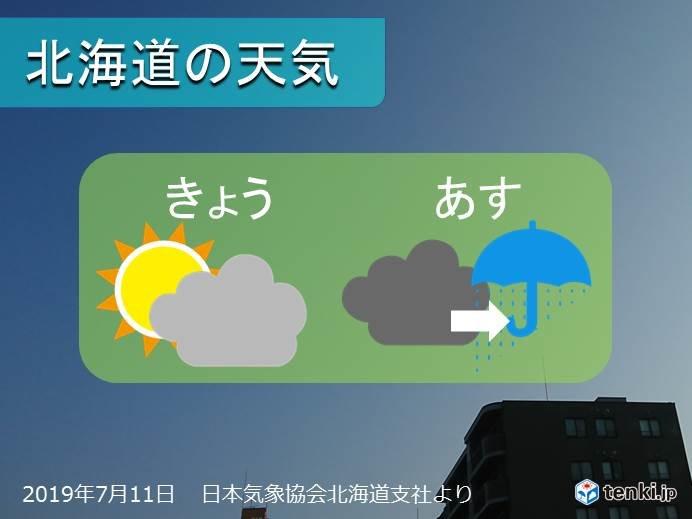 北海道 穏やかな天気は今日まで 明日は雨に