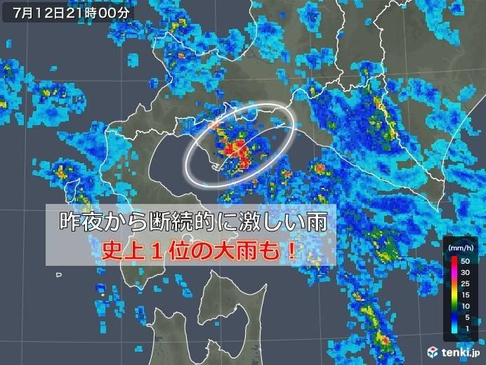 北海道で7月1位の大雨に