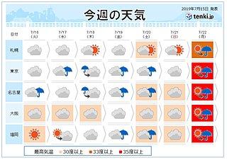 週間 熱帯低気圧 日本へ影響か