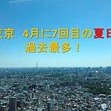 東京 4月に7回目の夏日 過去最多