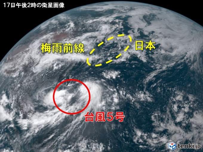 台風5号は速度遅く大型 広範囲で雨や風の影響長引く