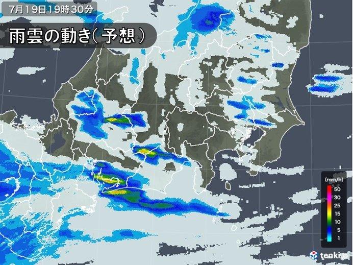 今夜の関東 突然の雨に注意