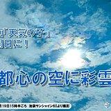 映画「天気の子」公開日に! 都心の空に虹色の光