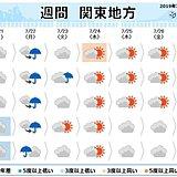 関東週間 日照不足続く見通し