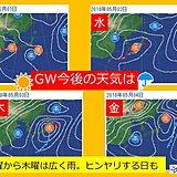 晴れ続きですが GW今後の天気は?