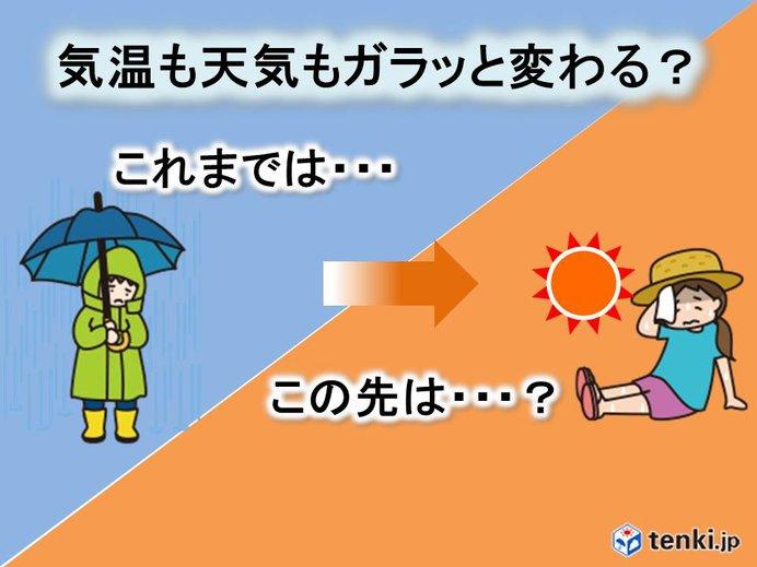 関東 天気も気温もガラッと? 夏本番もいよいよか