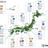 23日 全国的に急な雷雨注意 東京も傘手放せず
