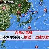 26日 台風が接近・上陸の前に雨が強まる 猛暑日も