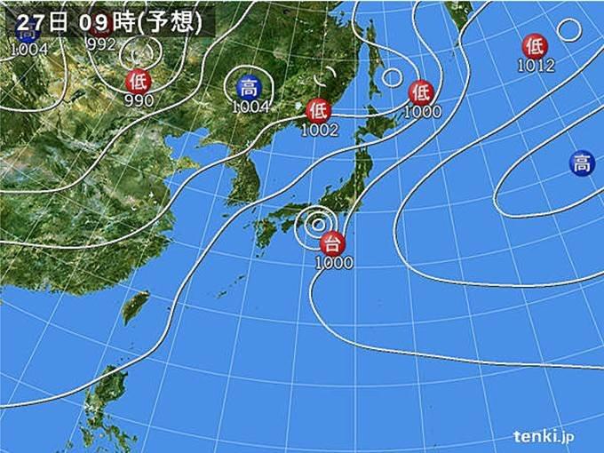 台風が最も接近する時間は