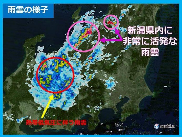 熱帯低気圧北上中 雨雲発達