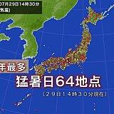 猛暑日地点今年最多 岩手県で37度