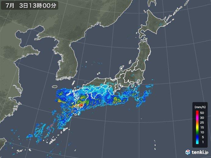 梅雨末期の「大雨」 度々