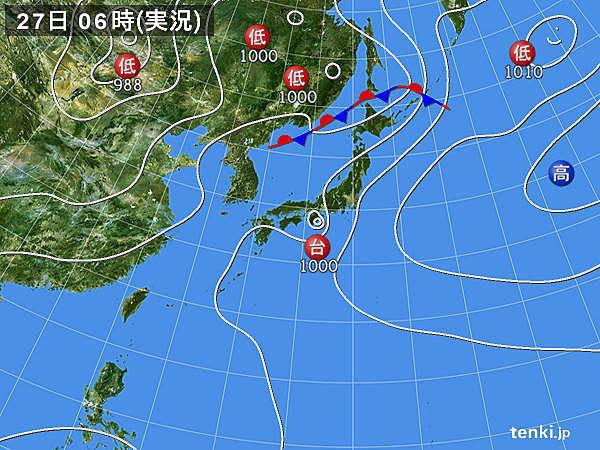 今年初めて日本に「台風上陸」 台風6号