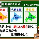 北海道の1か月 お盆ごろから北海道らしく