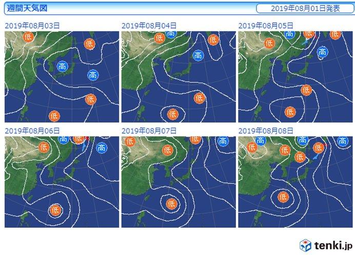 来週は熱帯擾乱が西日本に近づくかも