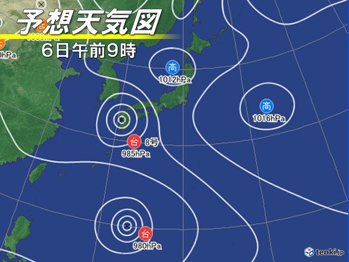 「次の台風」 台風8号に連続して北上か?