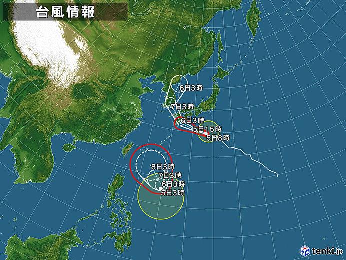 台風9号 ゆっくり北上