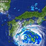 台風8号接近 外側の雲かかり始める